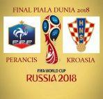 Agen Bola Terpercaya - Prediksi Perancis vs Kroasia ( Final Piala Dunia 2018 )